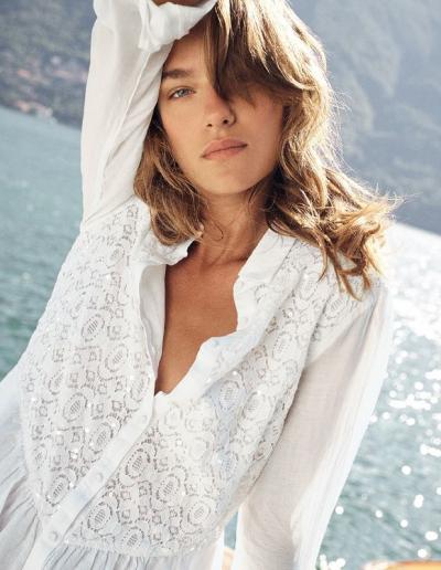 Leinen Kleid Weiss