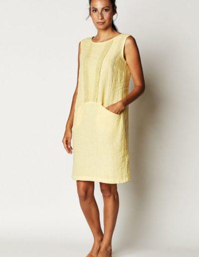 Leinenkleid Gelb
